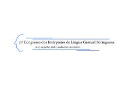 2.º Congresso dos Intérpretes de Língua Gestual Portuguesa