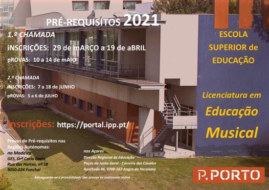 Pré-Requisitos Licenciatura de Educação Musical
